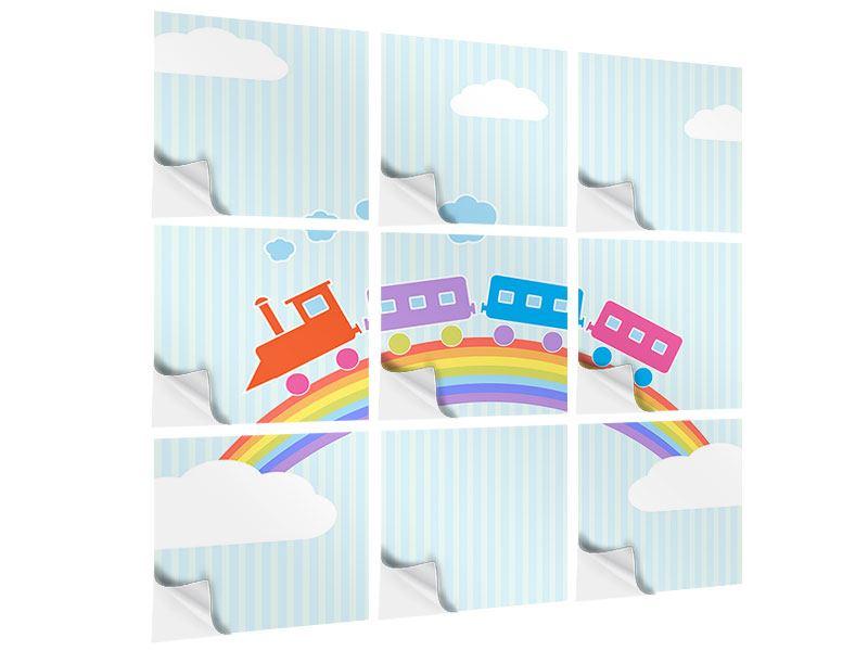 Klebeposter 9-teilig Der Regenbogenzug
