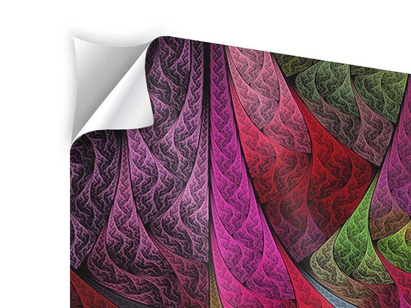 Klebeposter 9-teilig Fraktales Muster