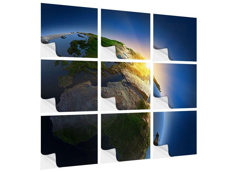 Klebeposter 9-teilig Sonne und Erde