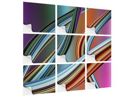 Klebeposter 9-teilig Wellengleich