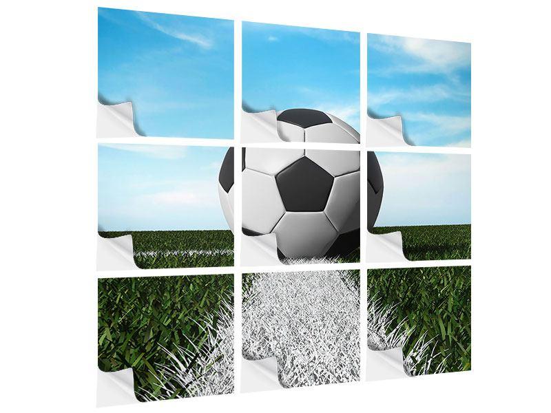 Klebeposter 9-teilig Der Fussball