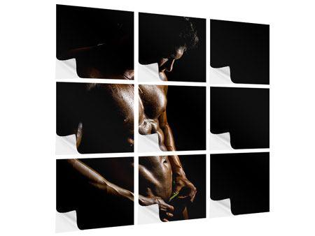Klebeposter 9-teilig Heisses Männermodel