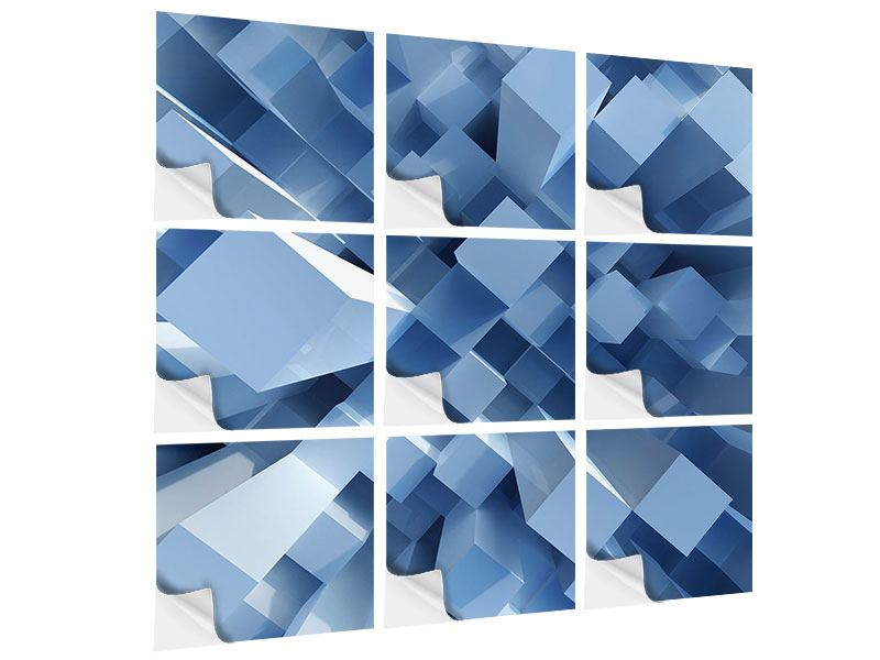 Klebeposter 9-teilig 3D-Säulen