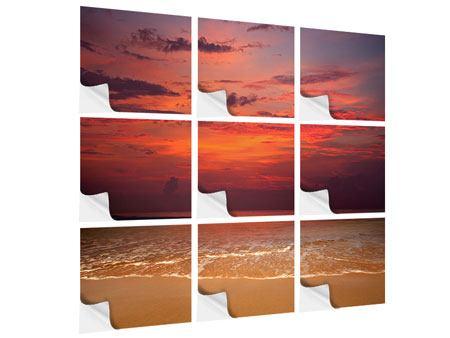 Klebeposter 9-teilig Zeile auf den Sand