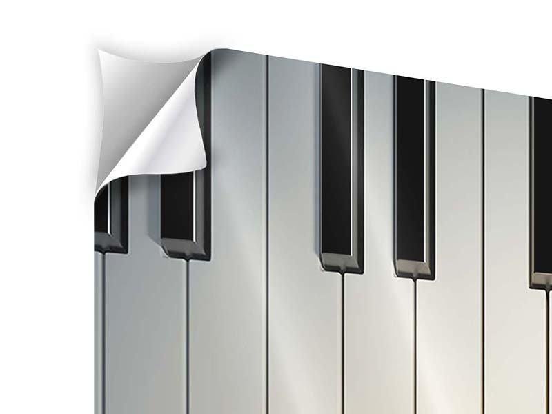 Klebeposter 9-teilig Klaviertasten