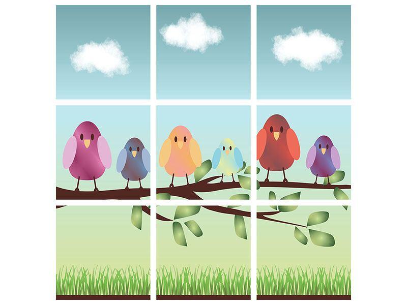 Klebeposter 9-teilig Alle Vögel sind schon da