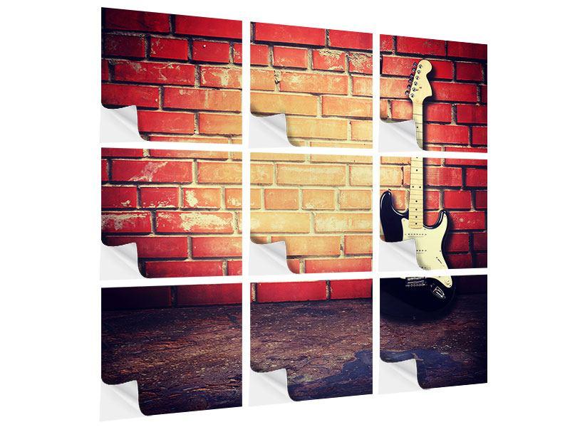 Klebeposter 9-teilig E-Gitarre