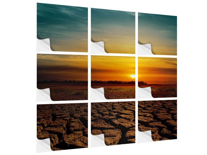 Klebeposter 9-teilig Afrikas Dürre