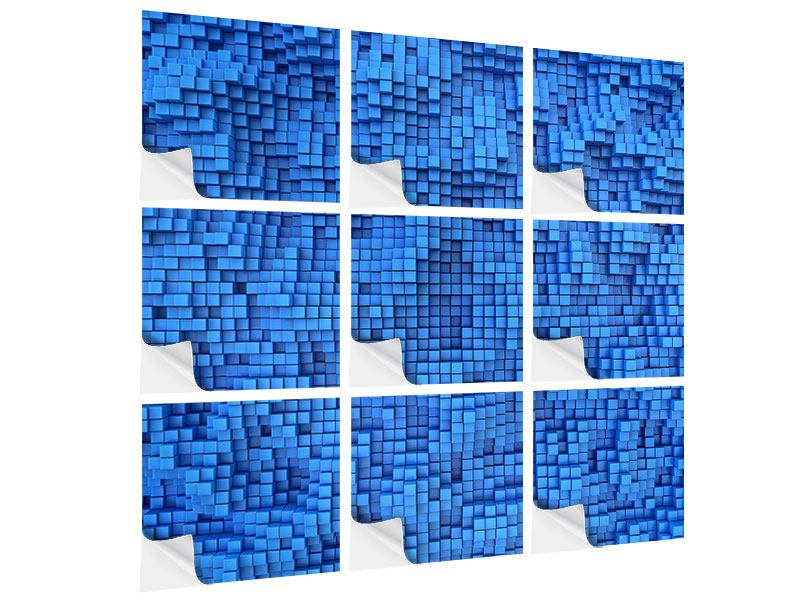 Klebeposter 9-teilig 3D-Mosaik