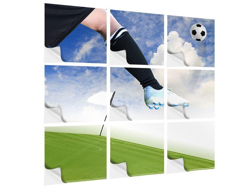Klebeposter 9-teilig Fussball-Kicker