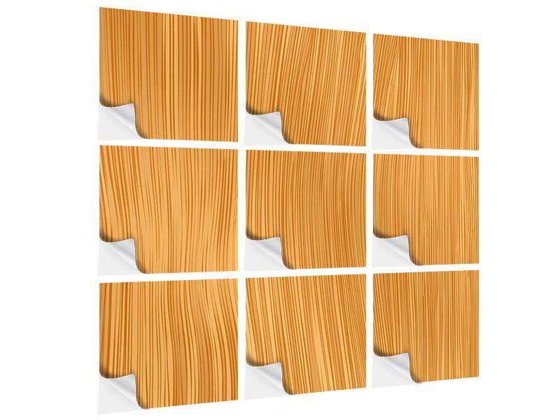 Klebeposter 9-teilig Wooden