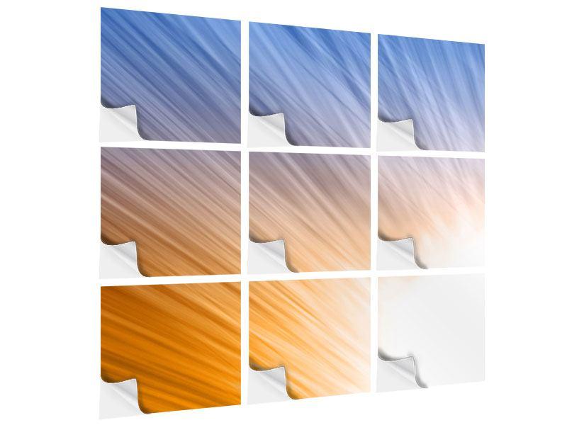 Klebeposter 9-teilig Abstraktes Lichterspiel