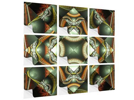 Klebeposter 9-teilig Fraktales Bild