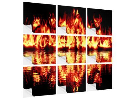 Klebeposter 9-teilig Feuerwasser