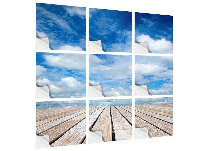 Klebeposter 9-teilig Hoch über den Wolken