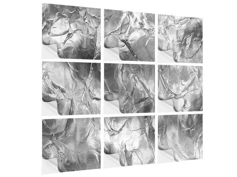 Klebeposter 9-teilig Eiswand