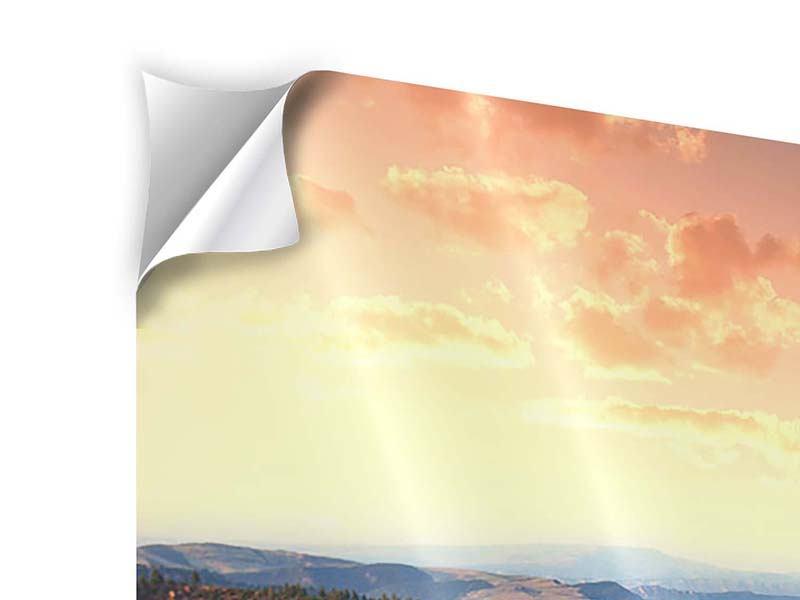 Klebeposter 9-teilig Sonnenuntergang Rocky Mountains
