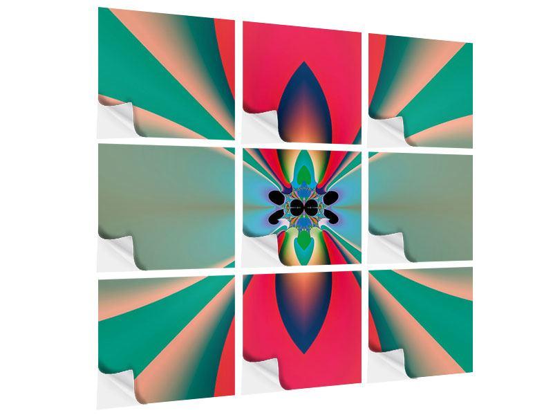 Klebeposter 9-teilig Psychedelic Art