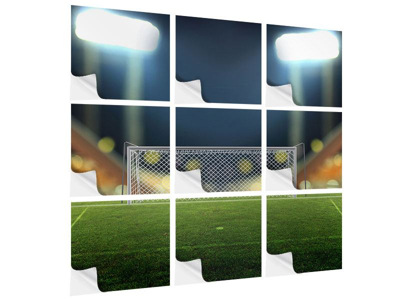 Klebeposter 9-teilig Fussballtor