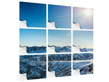 Klebeposter 9-teilig Berge im Schnee