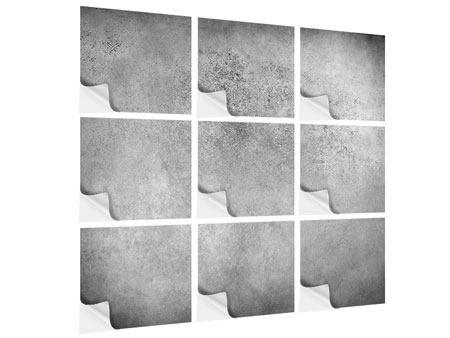 Klebeposter 9-teilig Graue Wandschattierungen