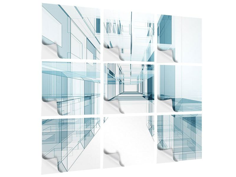 Klebeposter 9-teilig Raum der Räume