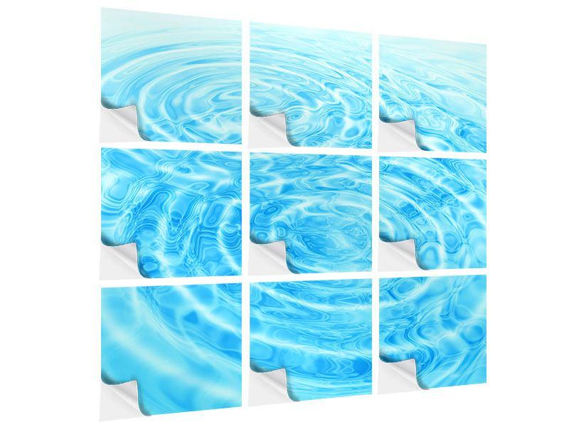 Klebeposter 9-teilig Abstraktes Wasserbad
