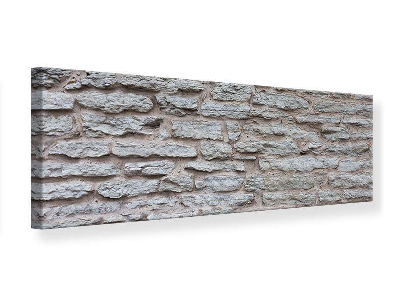 Leinwandbild Panorama Steinmauer