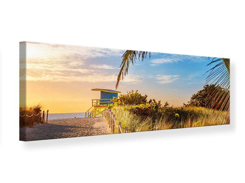 Leinwandbild Panorama Sandkörner