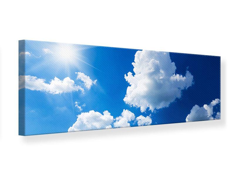 Leinwandbild Panorama Himmelblau