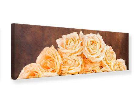Leinwandbild Panorama Die Rosenzeit