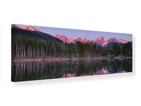 Leinwandbild Panorama Sprague Lake-Rocky Mountains