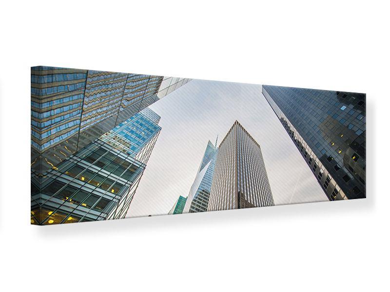 Leinwandbild Panorama Hochhäuser