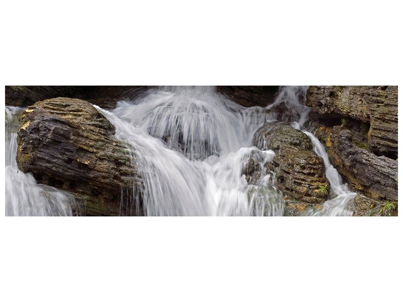 Leinwandbild Panorama Wasserfall XXL