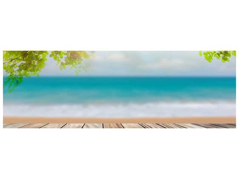 Leinwandbild Panorama Strandterrasse