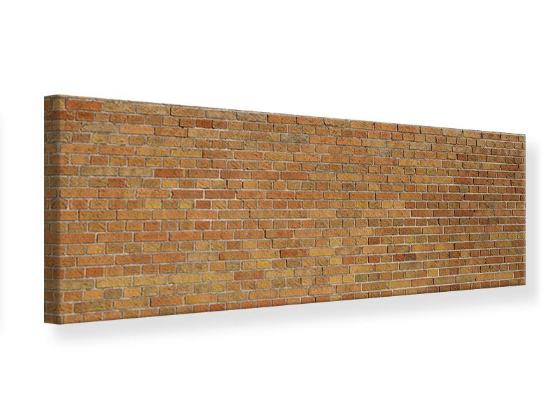Leinwandbild Panorama Backsteinhintergrund