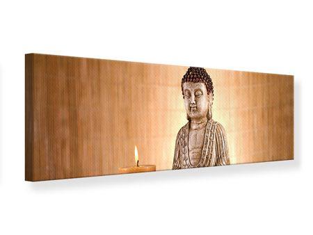 Leinwandbild Panorama Buddha in der Meditation