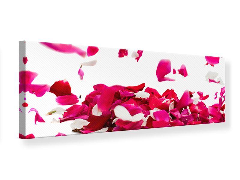 Leinwandbild Panorama Für mich soll`s rote Rosen regnen