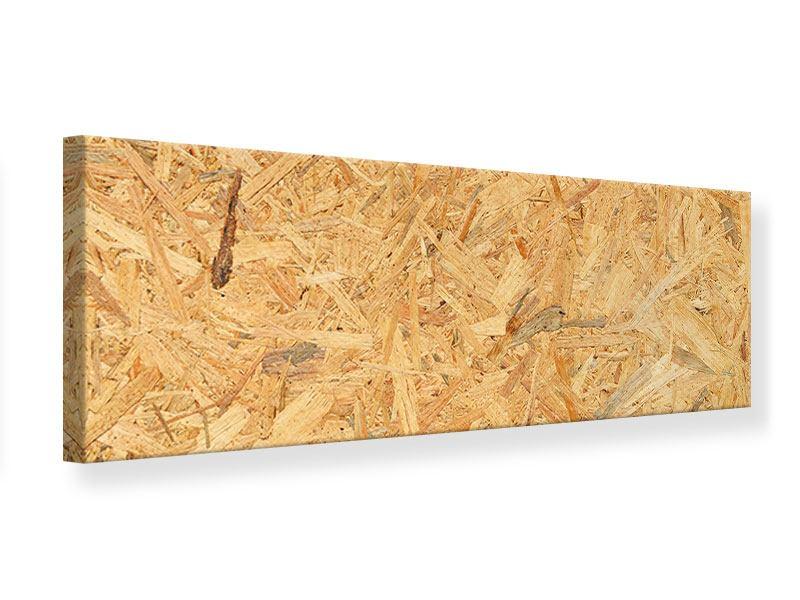 Leinwandbild Panorama Gepresstes Holz