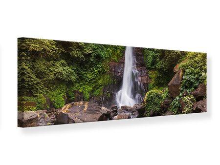 Leinwandbild Panorama Wasserfall Bali