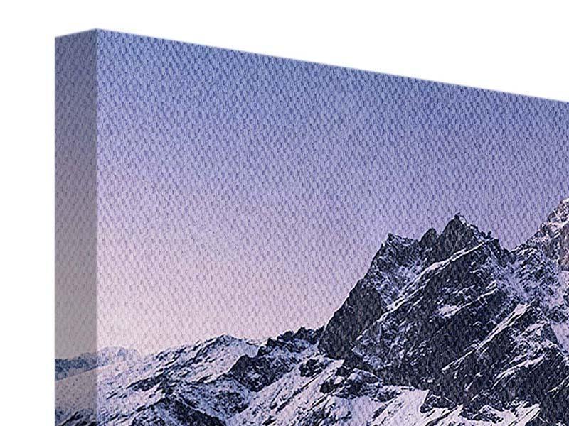 Leinwandbild Panorama Taboche und Cholatse