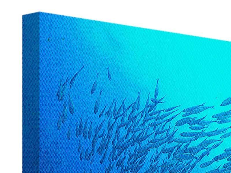Leinwandbild Panorama Fischwelt