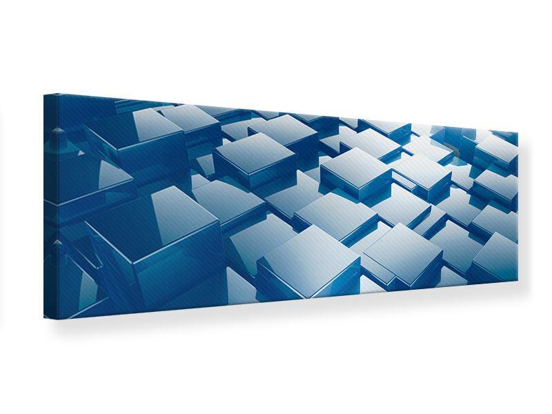 Leinwandbild Panorama 3D-Cubes