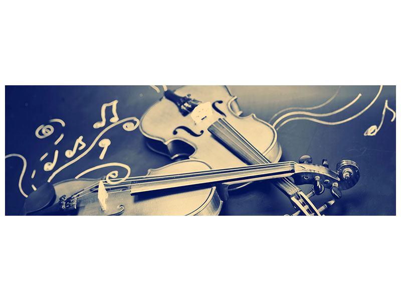 Leinwandbild Panorama Geigen