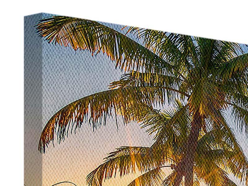 Leinwandbild Panorama Das Strandhaus