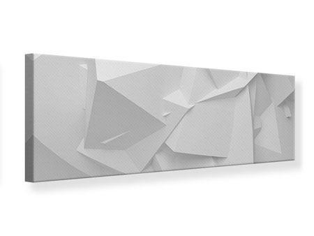 Leinwandbild Panorama 3D-Raster