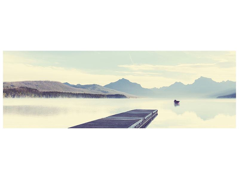 Leinwandbild Panorama Bergromantik