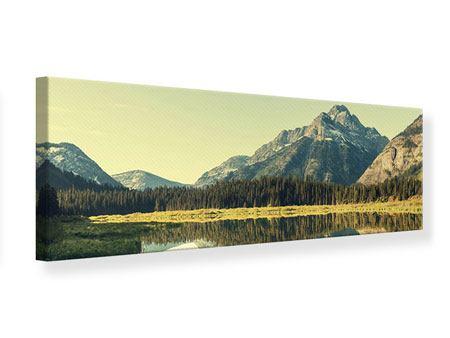 Leinwandbild Panorama Der Bergsee