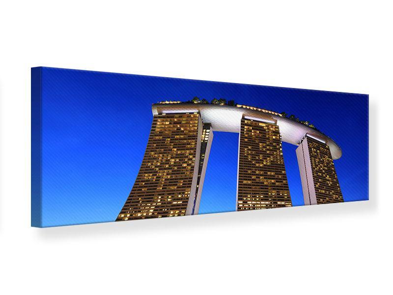 Leinwandbild Panorama Wolkenkratzer Singapur