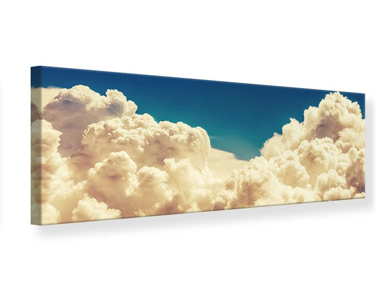 Leinwandbild Panorama Himmelswolken